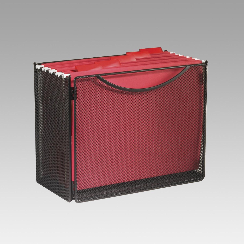 Desktop File Folder Organizer  Desktop File Storage Box Steel Mesh 12 1 2W X 7D X 10H