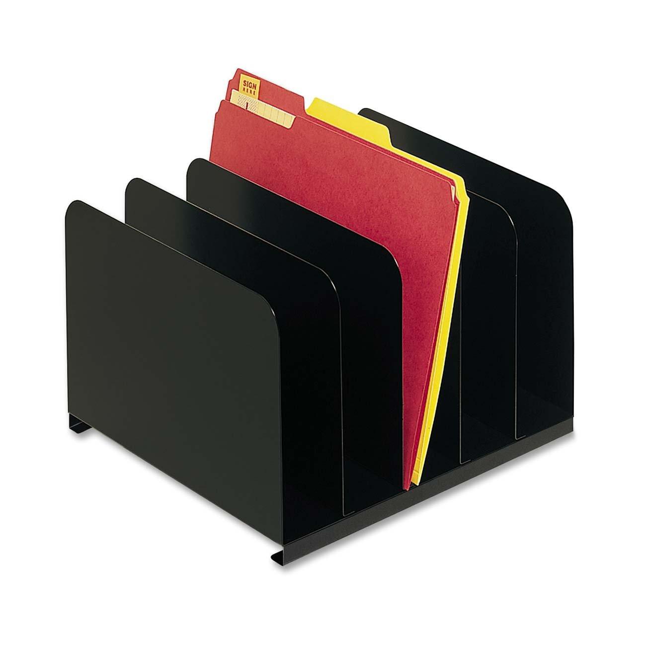 Desktop File Folder Organizer  MMF Industries Steel 5 partment Vertical Desktop File