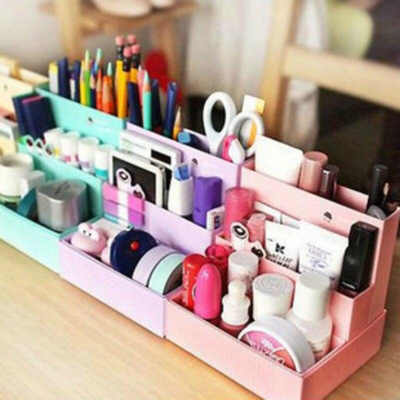 Diy Desk Organization  Cute DIY Paper Board Storage Box Desk Decor Stationery