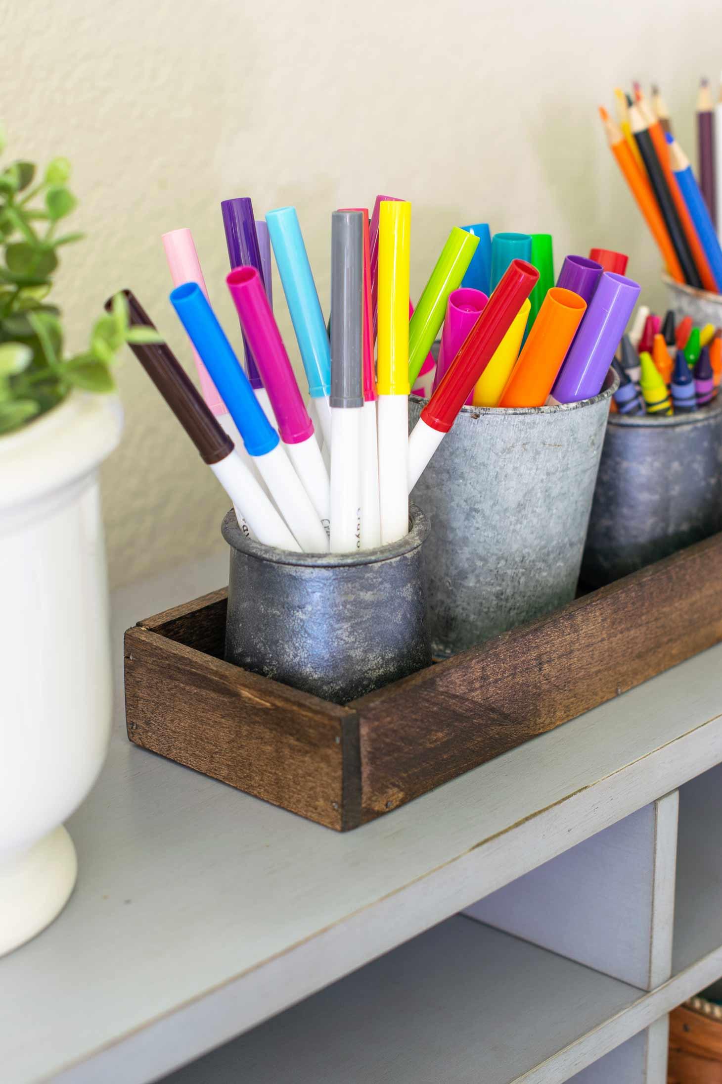 Diy Desk Organization  DIY Desk Organizer For School Supplies Major Hoff Takes