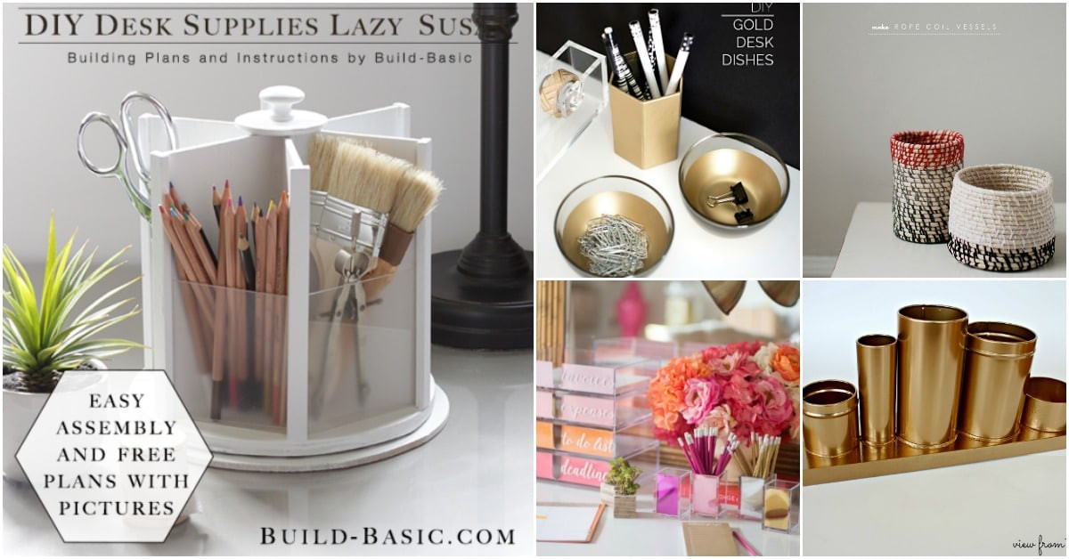 Diy Desk Organization  21 Awesome DIY Desk Organizers That Make The Most Your