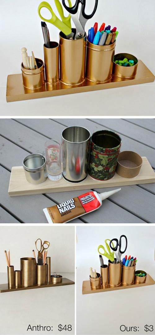 Diy Desk Organization  Organization DIY Storage Ideas for Small Spaces