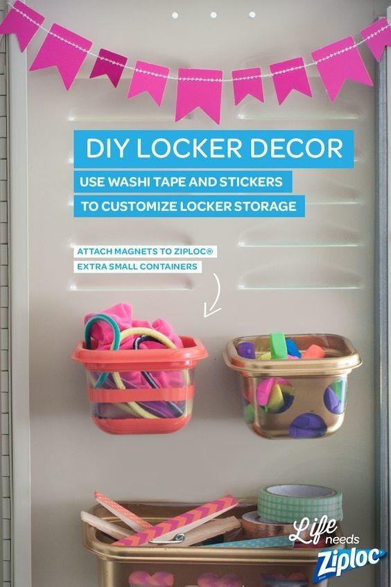 Diy Locker Organization  DIY Hanging Locker Storage DIY Back To School Supplies