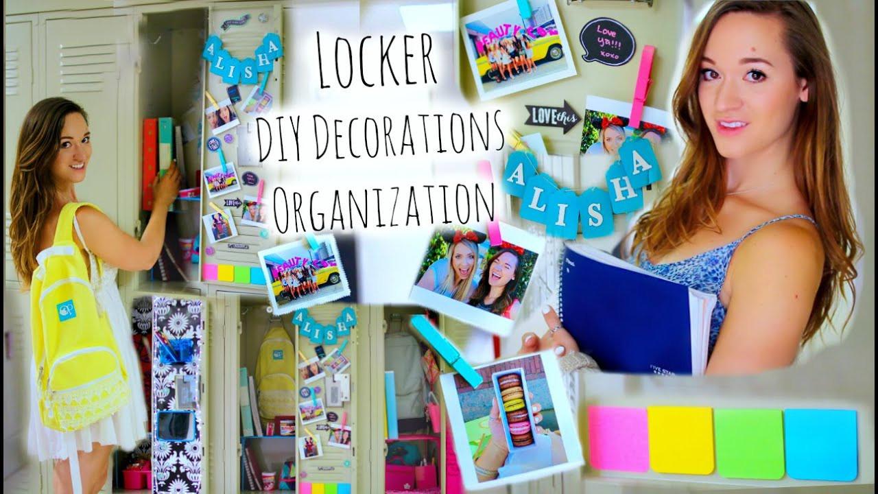 Diy Locker Organization  DIY Locker Organization Decor Tumblr Inspired Back to