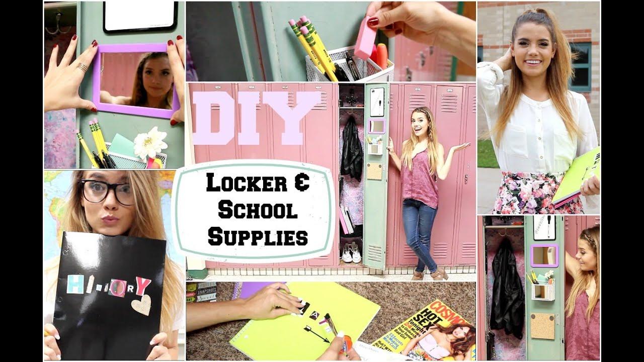 Diy Locker Organization  Back To School DIY Locker Organization & School Supplies