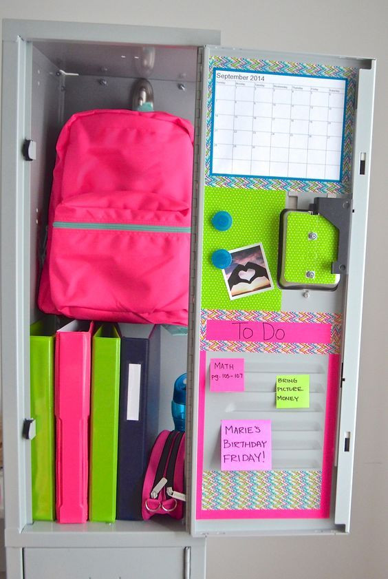 Diy Locker organization Fresh 15 Diy Locker organization for School Girls