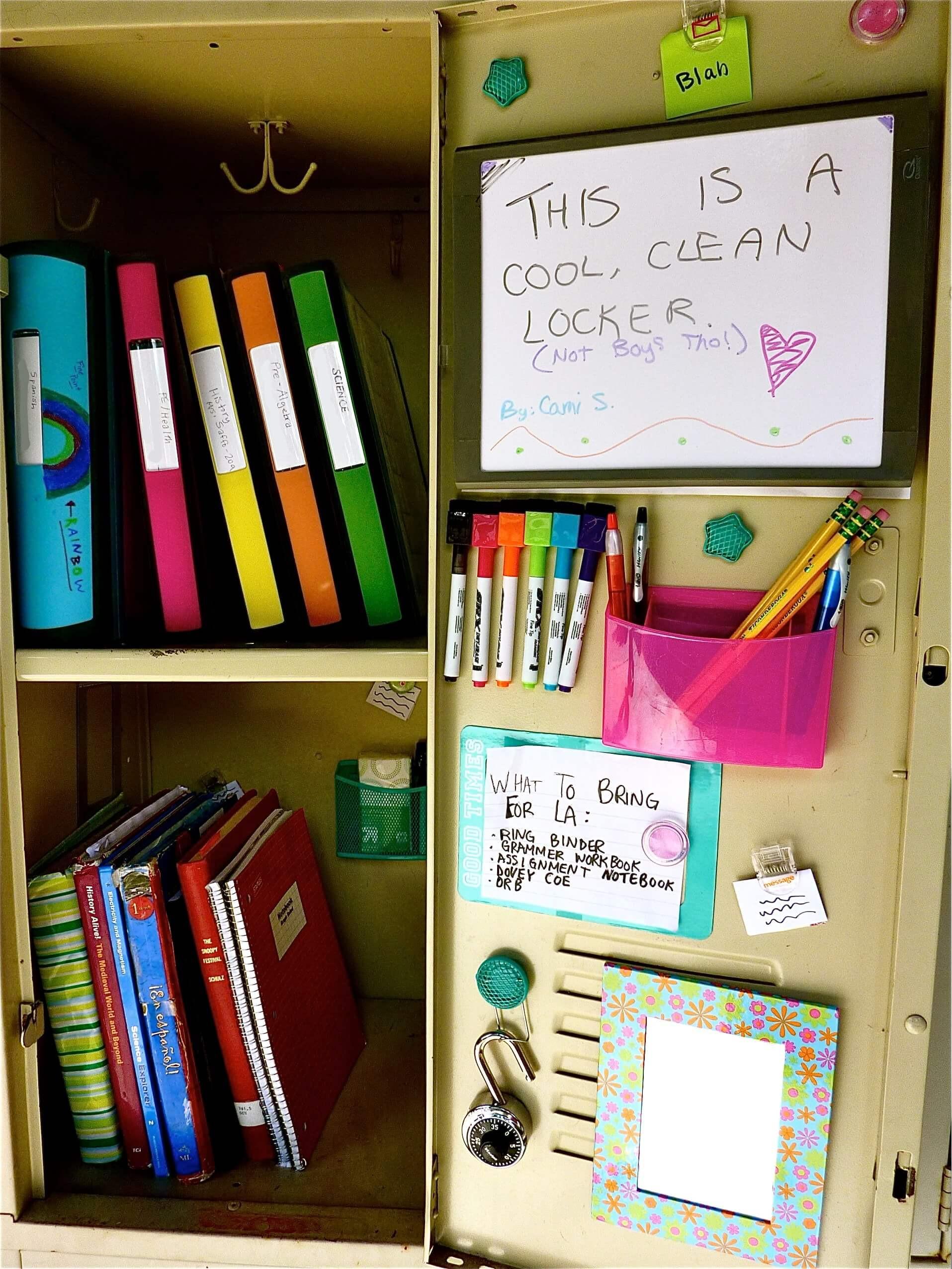 Diy Locker Organization  25 DIY Locker Decor Ideas for More Cooler Look