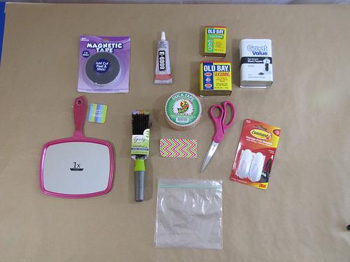 Diy Locker Organization  Tutorial How To Make a Custom Magnet Locker Organization