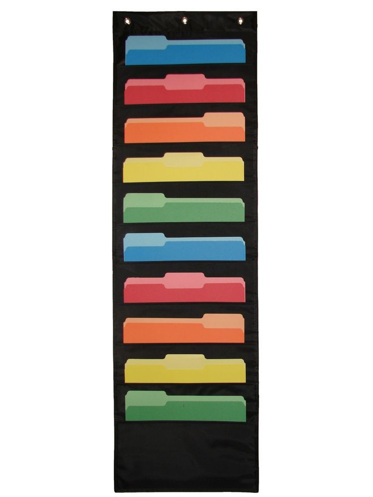 Hanging Paper organizer Fresh Double Stitched Wall Mounted File Holder Hanging Paper