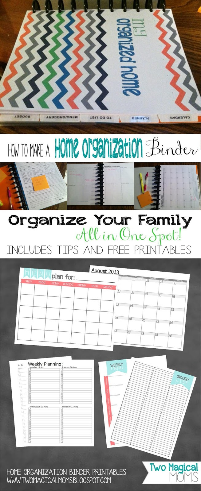 Home organization Binder Awesome Two Magical Moms Home organization Binder Tips and Free