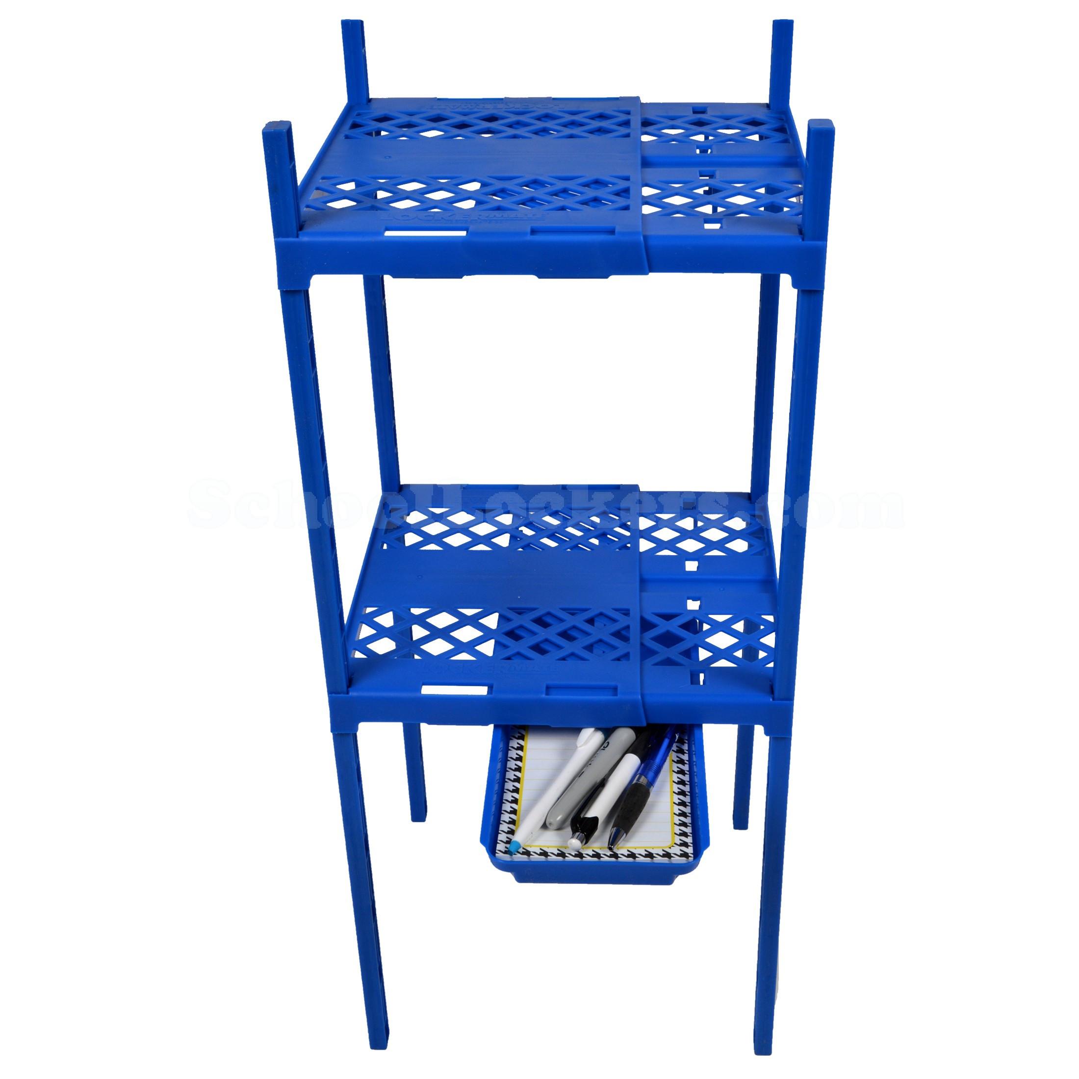 Locker Organizer Shelf  Locker Double Shelf with Tray