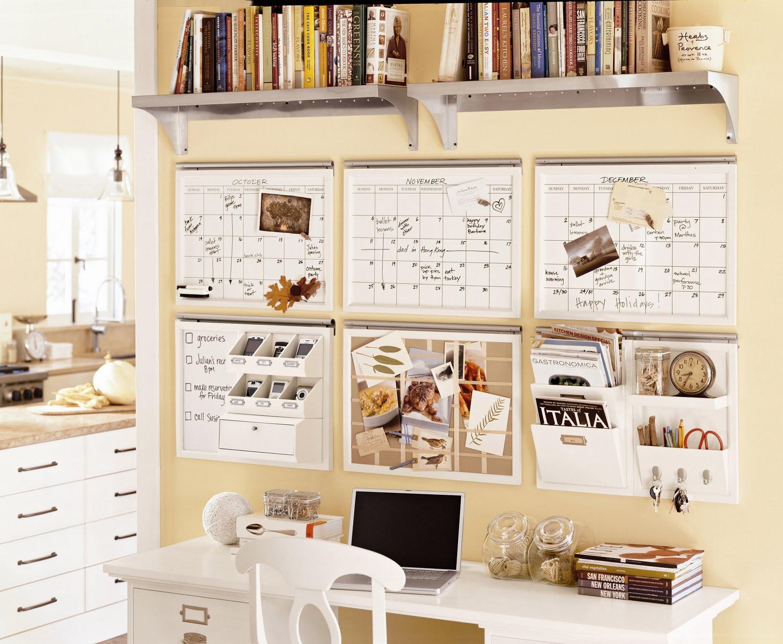 Office Desk Organization Ideas  pottery barn organization center ideas desk