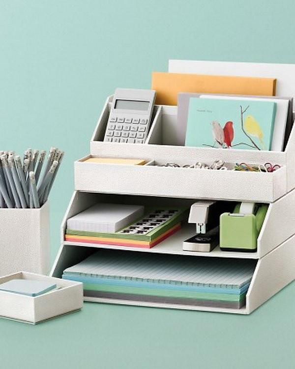 Office Desk Organization Ideas  20 Creative Home fice Organizing Ideas Hative