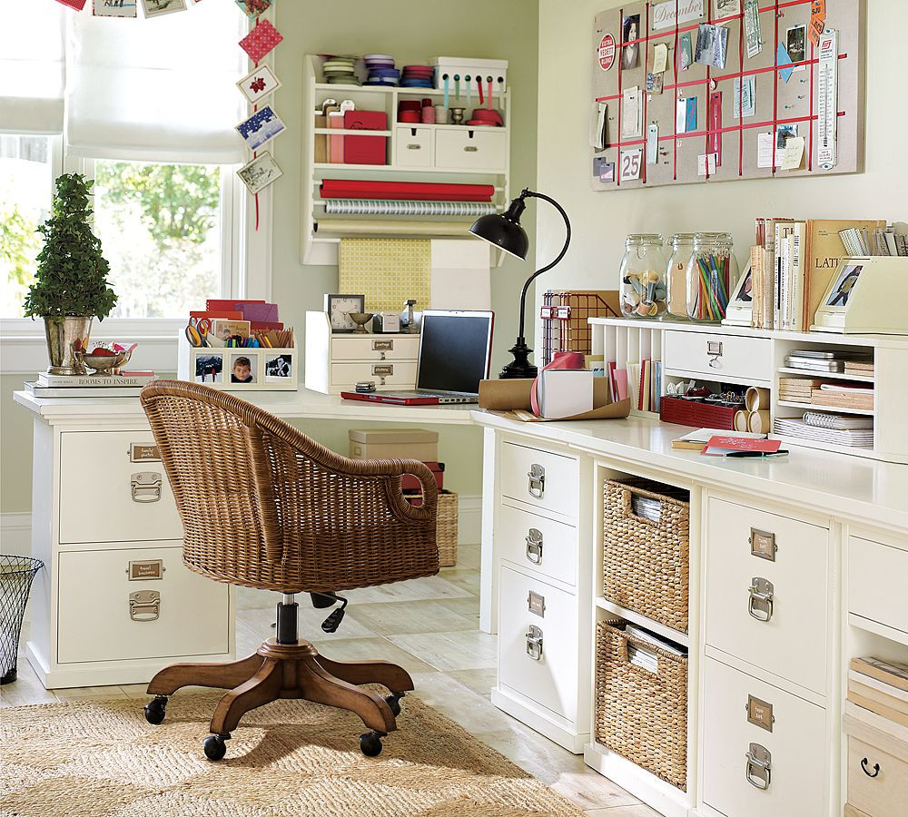 Office Desk Organization Ideas  Creation of a Home fice Sewing Craft Room