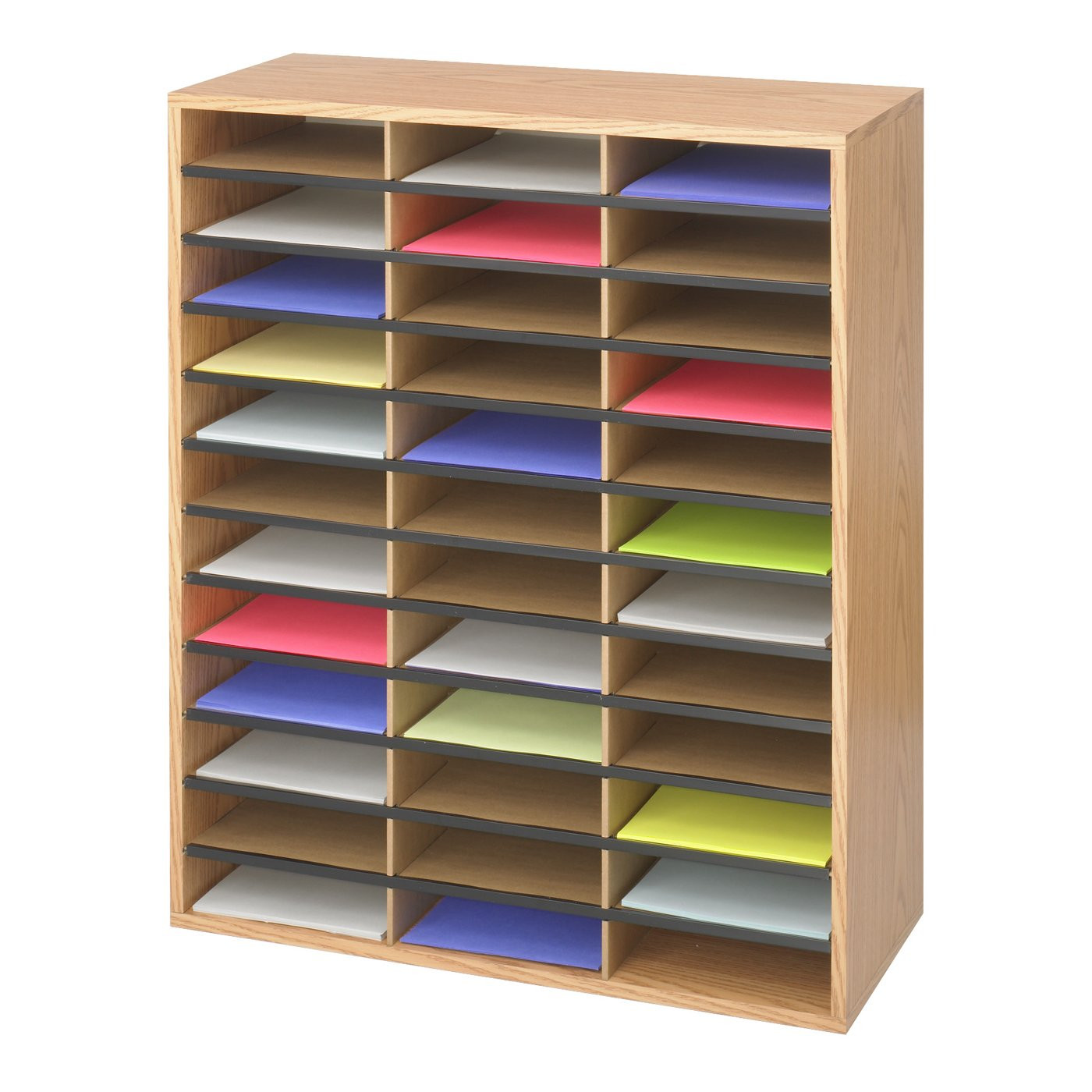Office Shelf Organizer  Safco 9403MO Wood Corrugated Literature Organizer fice