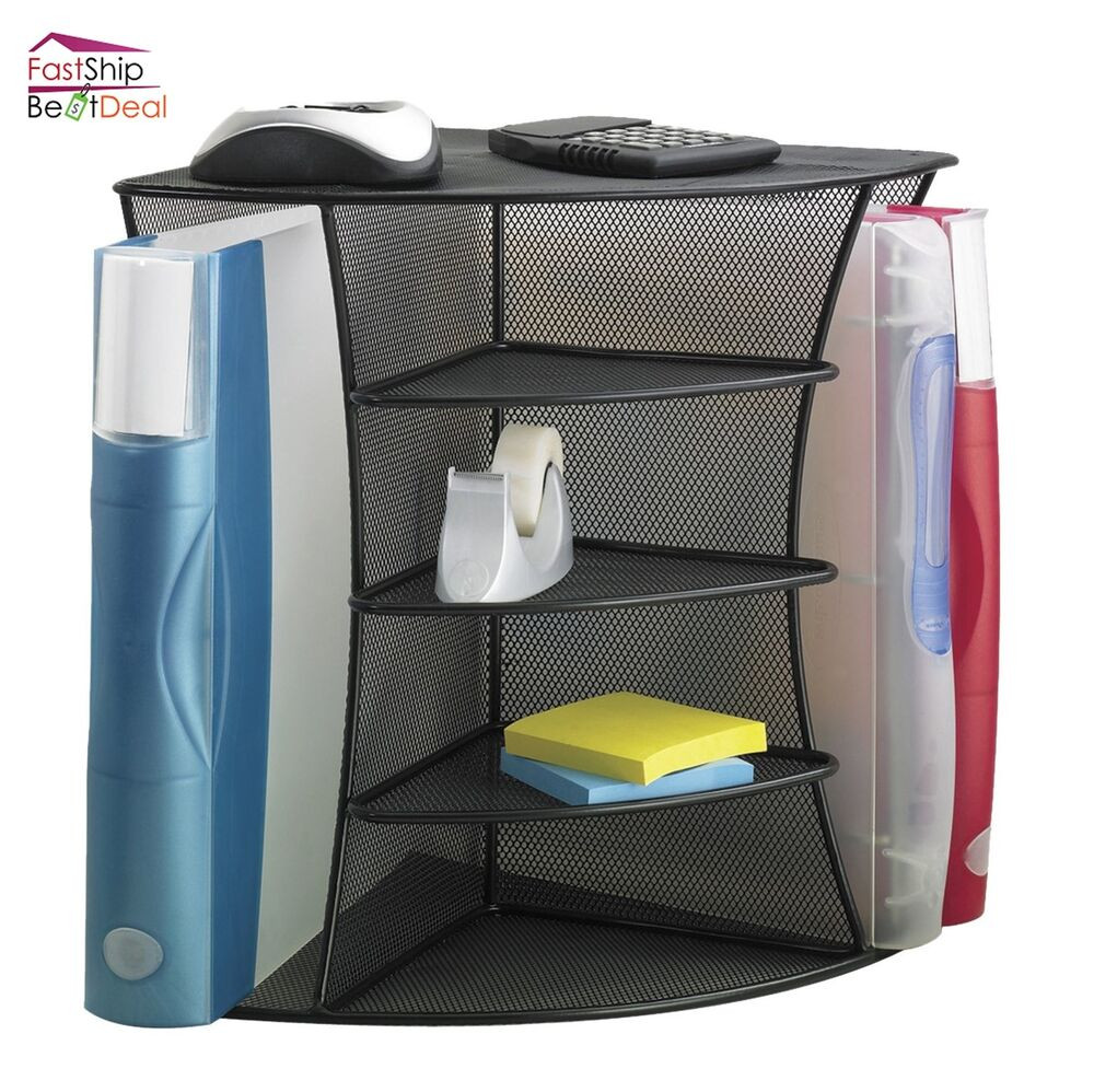 Office Shelf Organizer  Safco Desk Organizer File Folders Storage Shelve Holder