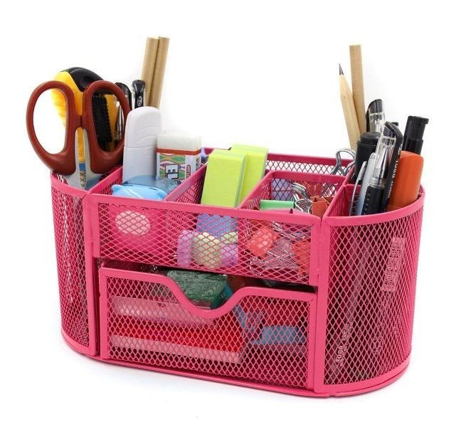 Office Supply organizer Unique Mesh Desk organizer Fice Supplies Pen Holder Storage Box