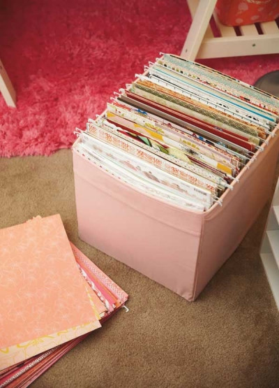 Paper File Organization  20 Scrapbook Paper Storage Ideas The Scrap Shoppe