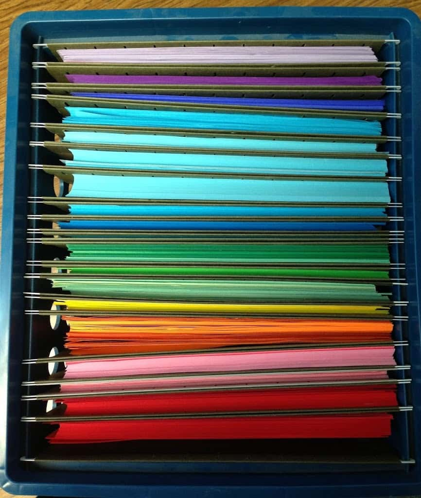 Paper File Organization  Organize your Colored Paper