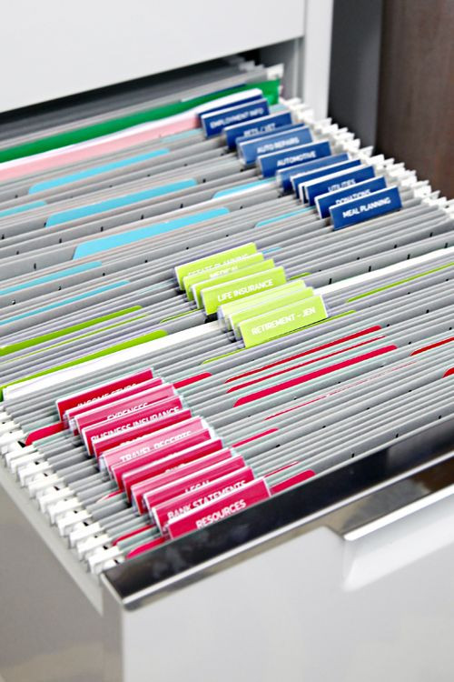 Paper File organization Luxury 25 Best Ideas About Filing Cabinet organization On