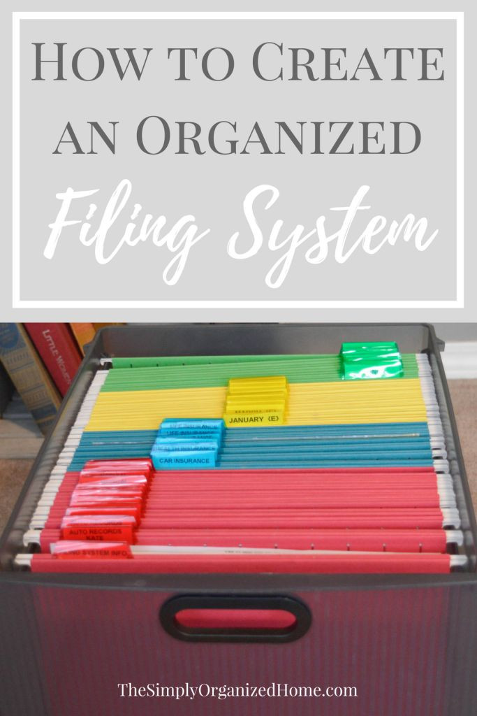 Paper File Organization  Best 25 Home filing system ideas on Pinterest