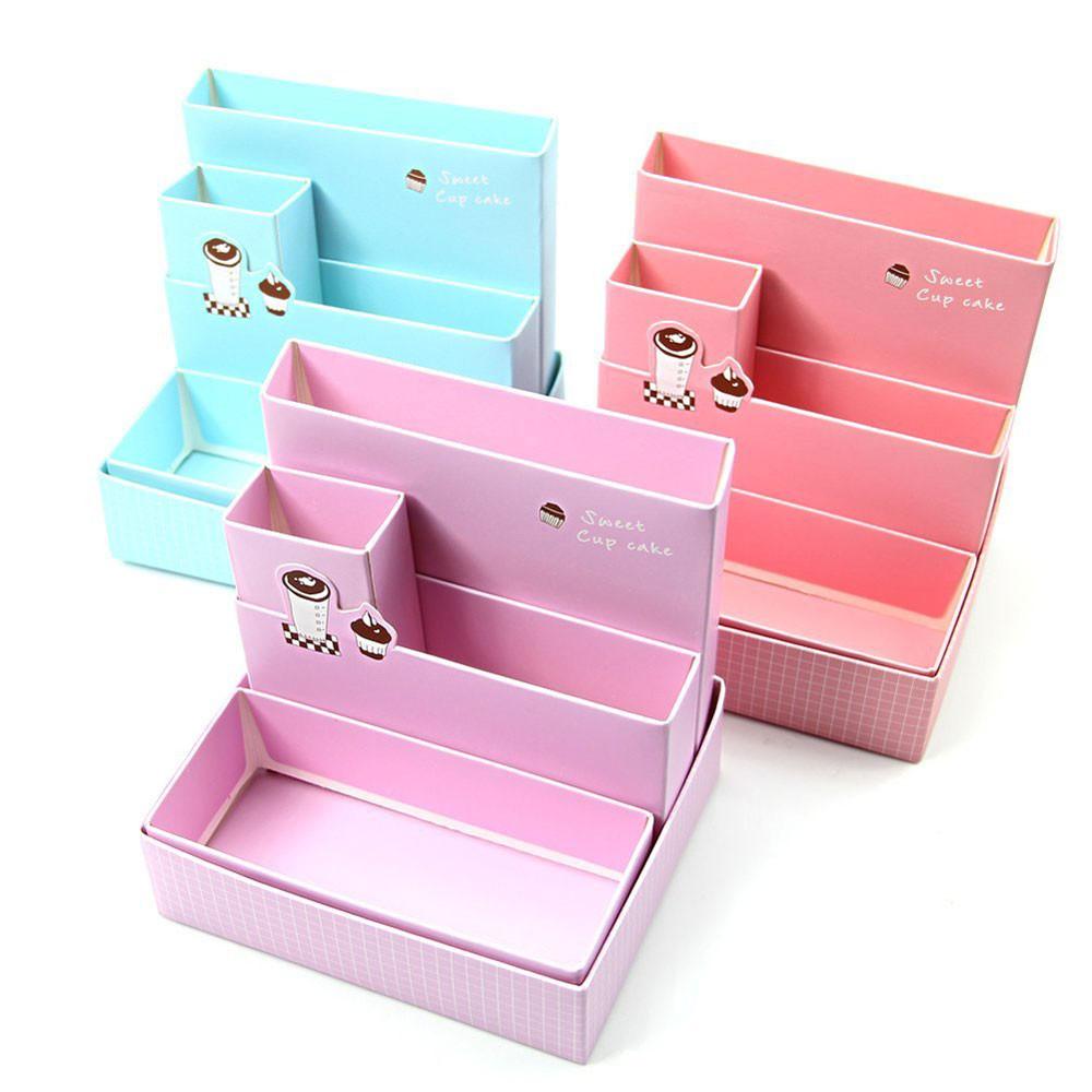 Paper organizer Box Beautiful Paper Board Storage Box Desk Decor Stationery Makeup
