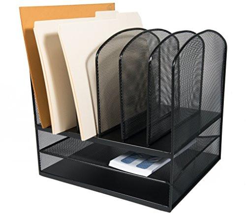 Paper Organizer For Desk  Adir fice Mesh Desk Organizer Desktop Paper File Folder