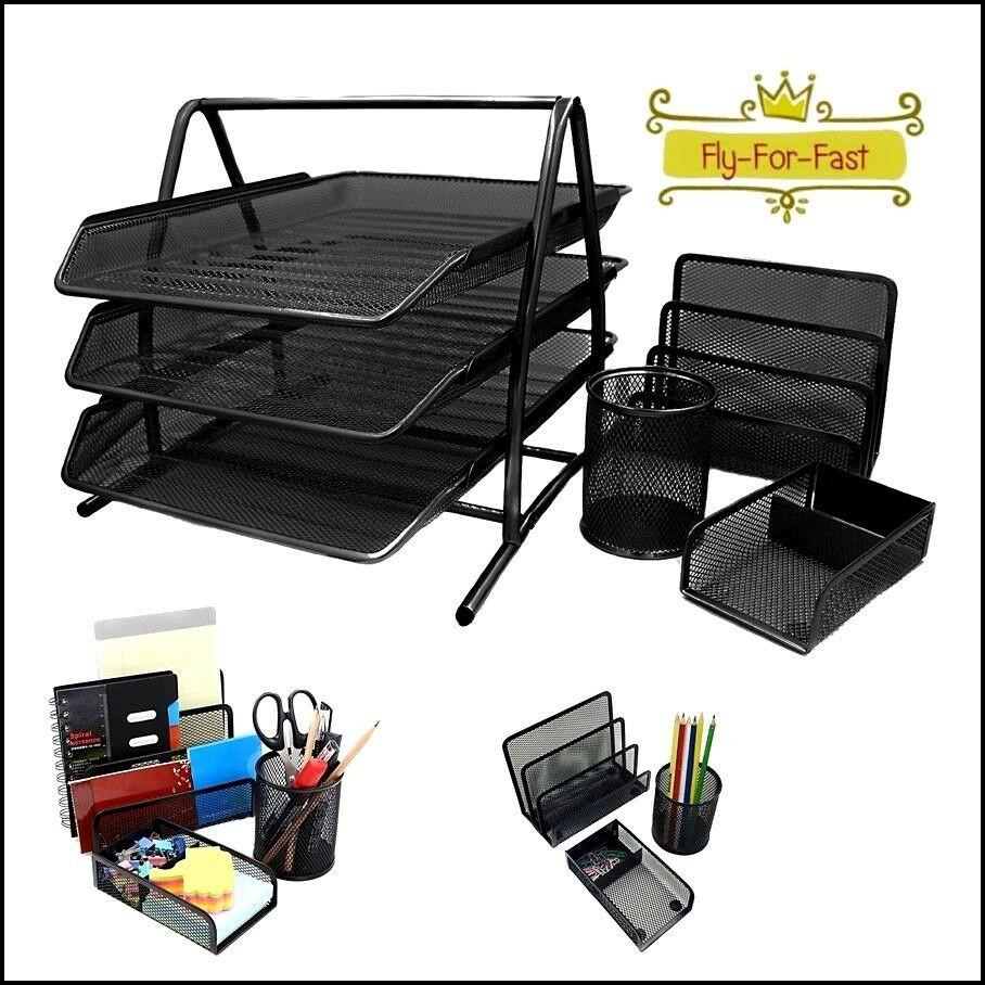 Paper Organizer For Desk  Tray Documents Mesh Desk Paper Storage fice Organizer