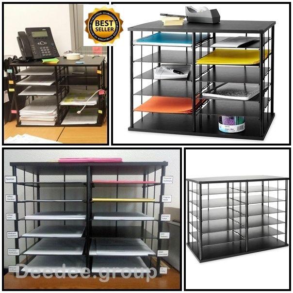 Paper Organizer For Desk  fice Storage Organizer Shelves Desk Cabinet Holders