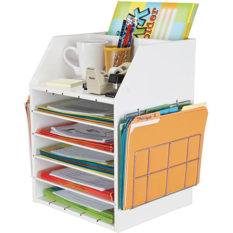 Paper Organizer For Desk  Really Good Teacher s Desktop Organizer With Paper Holders