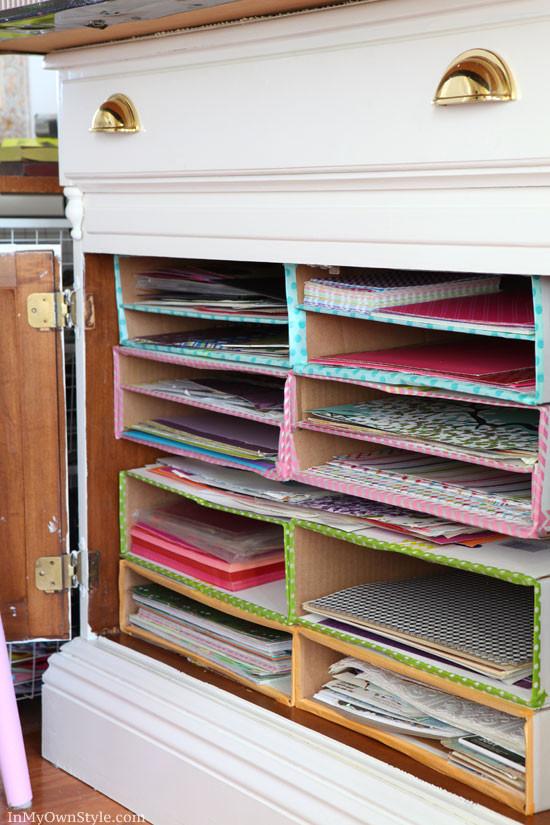 Paper organizer Ideas Lovely Diy Scrapbook Paper organizer
