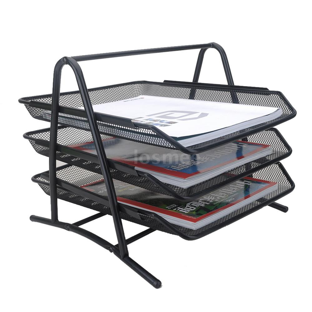 Paper Tray organizer Awesome 3 Tier File Letter Paper Tray sorter Fice Desktop