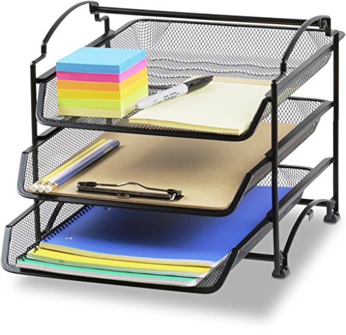 Paper Tray Organizer  Stackable Desk Organizer Trays File Holder Storage Paper