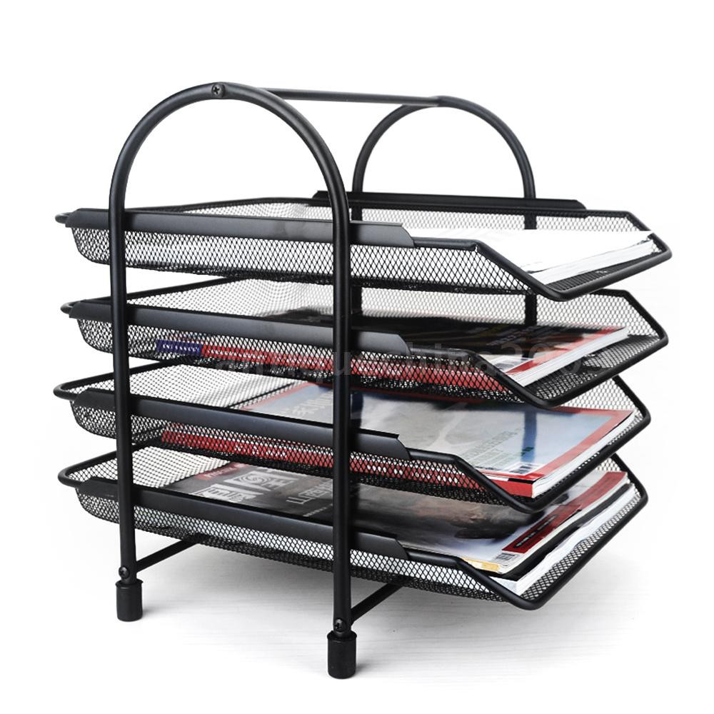 Paper Tray Organizer  4 Tier File Document Letter Paper Tray fice Desktop