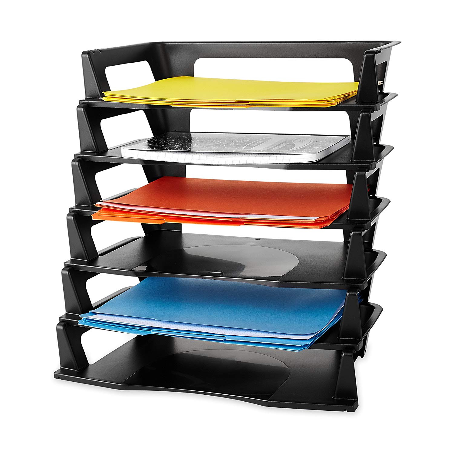 Paper Tray Organizer  Plastic Letter Tray 6 Pack Paper Holder Organizer Self