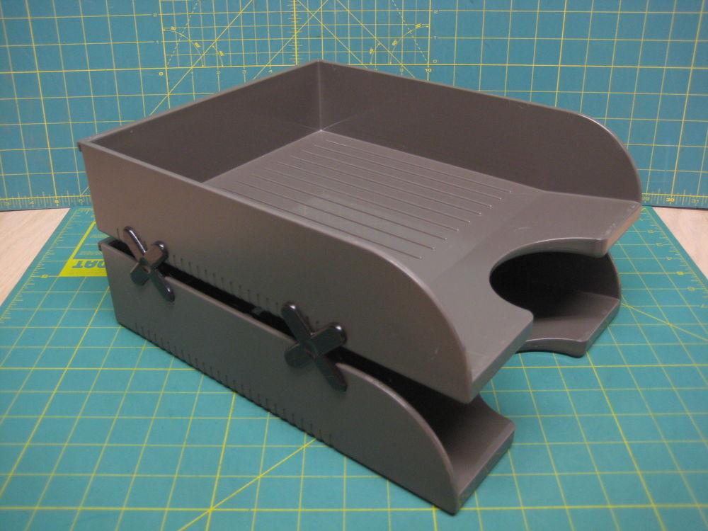 "Paper Tray Organizer  2 HERMAN MILLER 10"" Paper Tray Hanging OR Desktop LETTER"