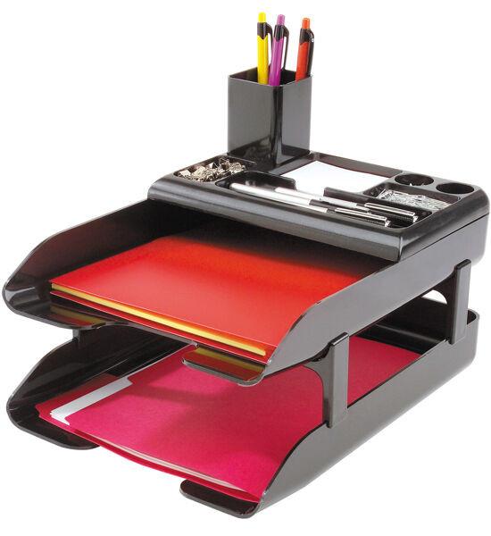 Paper Tray Organizer  fice Desk Paper Tray Organizer Metallic