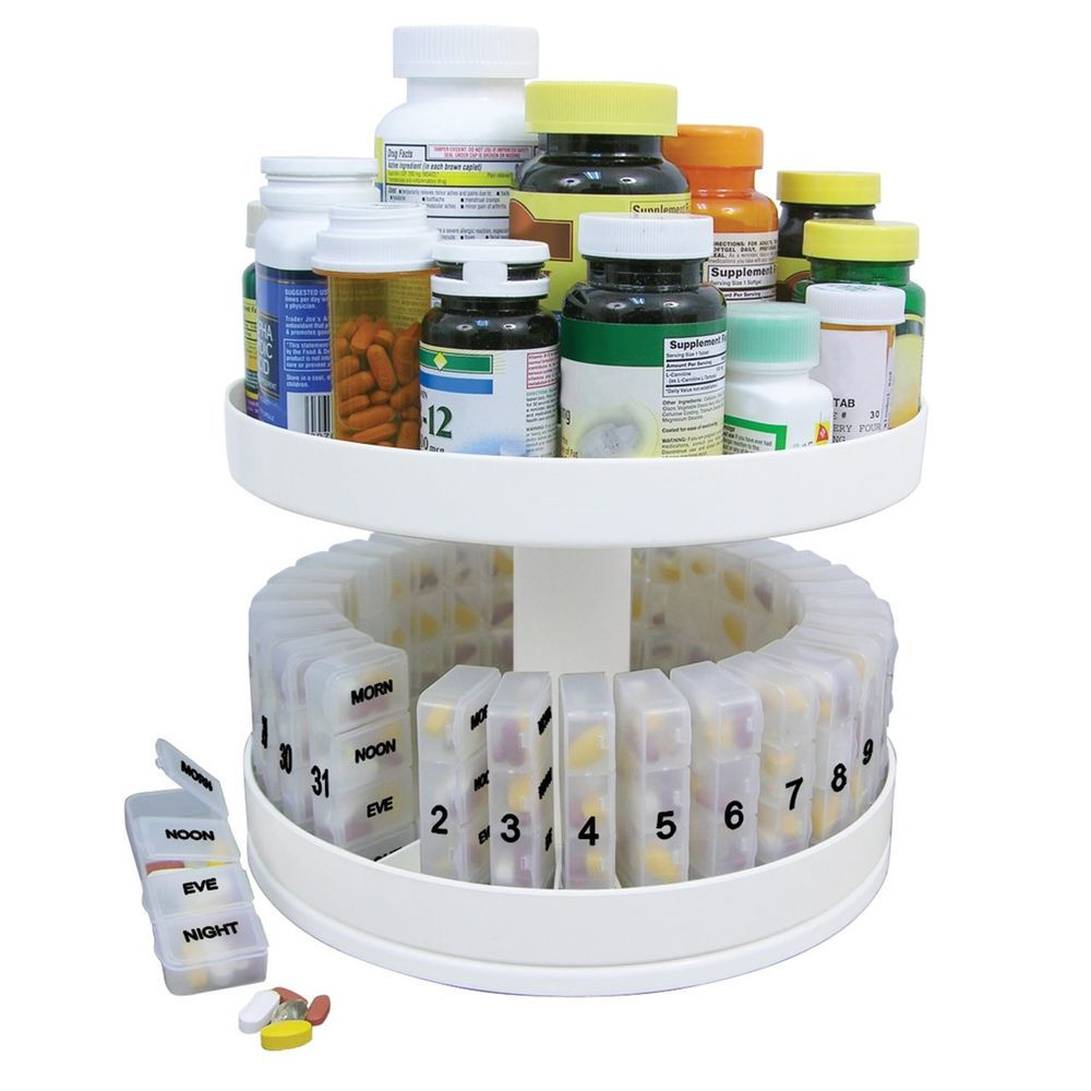 Pill Bottle organizer Beautiful Pill Holder Carousel Medicine Bottle Daily organizer