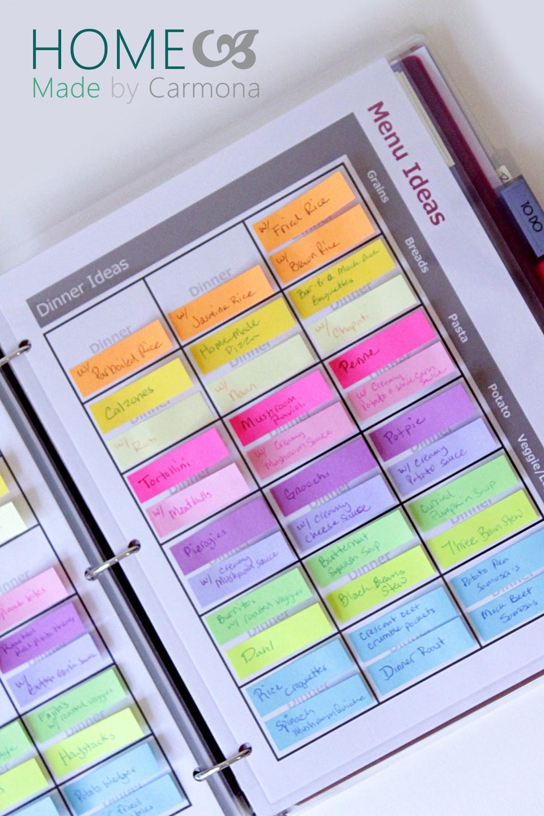 Planner organizer Ideas Best Of Menu Planner