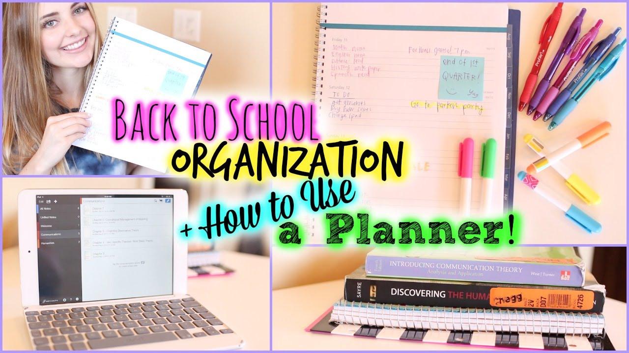 School Organization Tips  School Organization Study Tips & How to Use a Planner