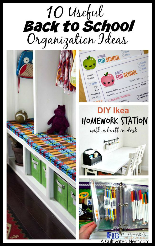 School Organization Tips  17 Best images about Back to School Organization on