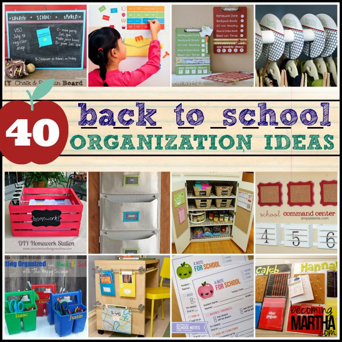 School Organization Tips  40 Back to School Organization Ideas The Simply Crafted Life