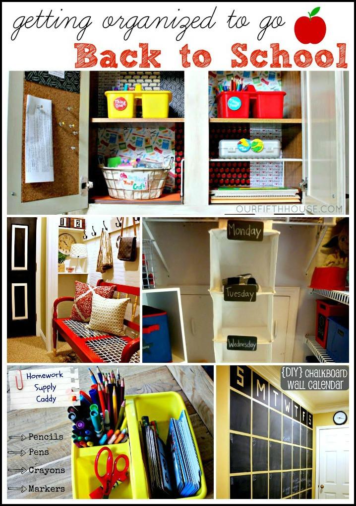 School Organization Tips  Our Fifth House 5 Back to School Organization Ideas