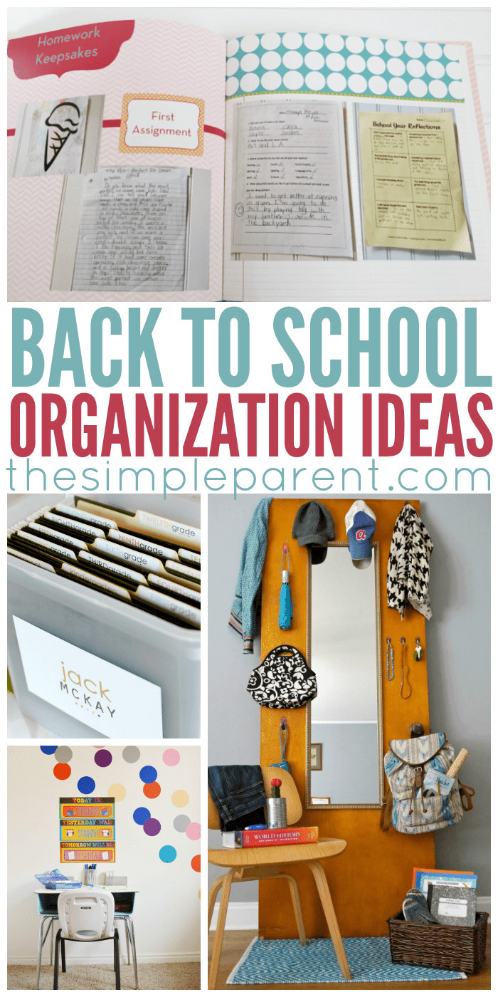 School Organization Tips  Back to School Organization Ideas