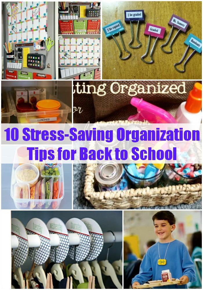 School Organization Tips  10 Stress Saving Organization Tips for Back to School