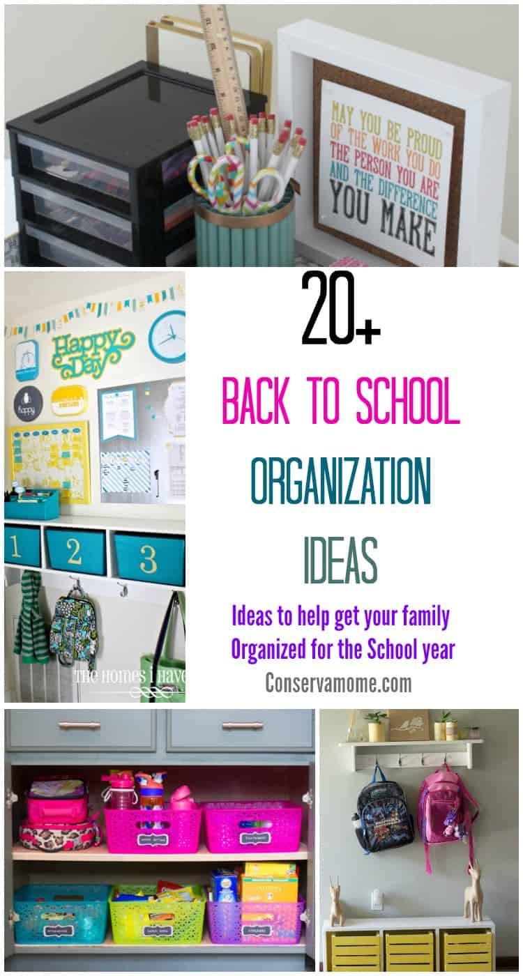 School Organization Tips  20 Back to School Organization Ideas Ideas to help