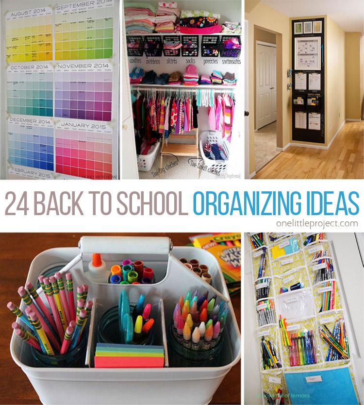 School Organization Tips  24 Back to School Organization Ideas