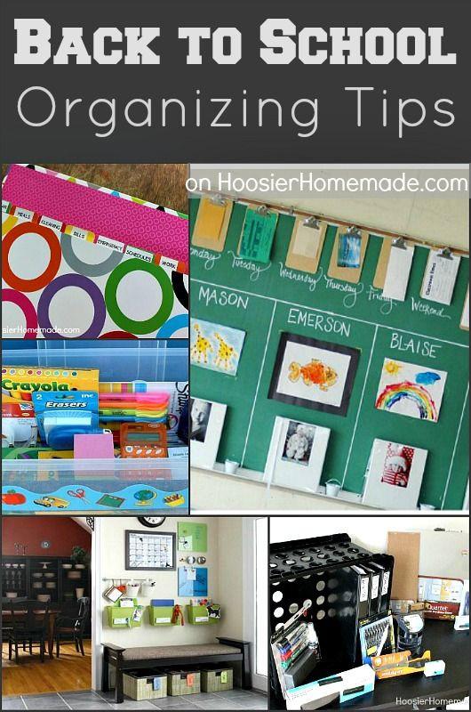 School Organization Tips  Pinterest • The world's catalog of ideas