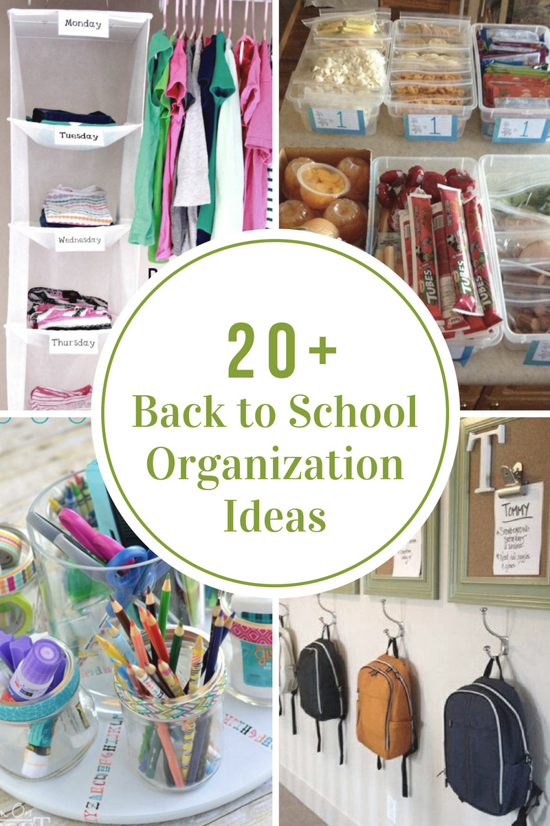 School Organization Tips  Back to School Organization Ideas The Idea Room