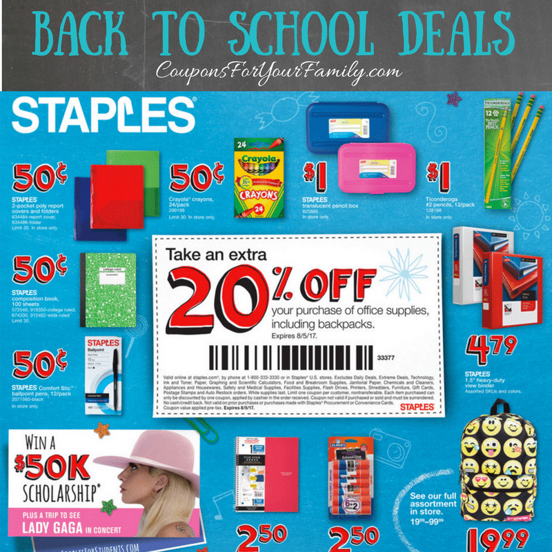 Staples Back to School Luxury This Weeks Staples Back to School Deals July 30 Aug 5